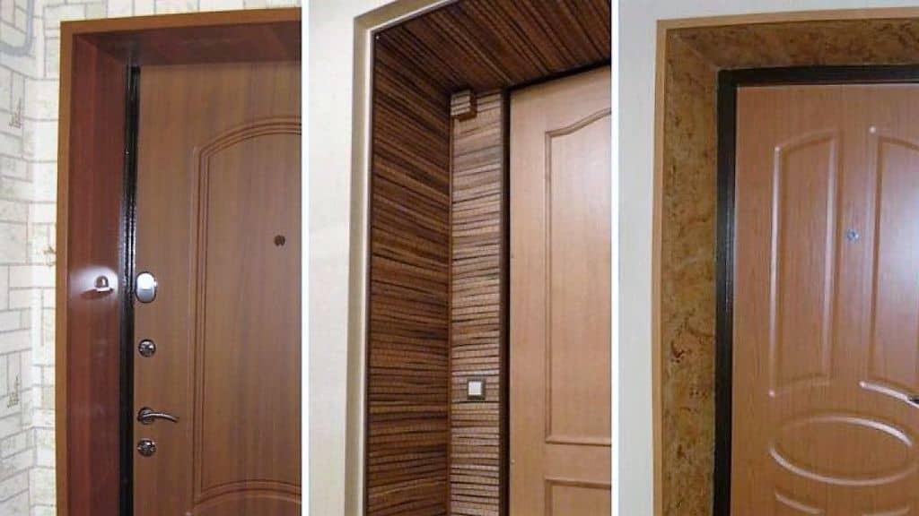 отделка проема двери с помощью МДФ